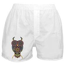 Vibrant Owl Boxer Shorts