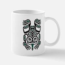Teal Blue and Black Haida Tree Frog Mugs