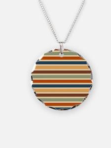 Funky Retro Stripes Necklace