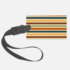 Funky Retro Stripes Luggage Tag