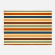 Funky Retro Stripes 5'x7'Area Rug