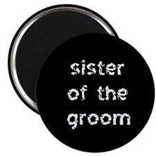 Sister of the Groom Black Magnet