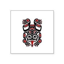 Red and Black Haida Tree Frog Sticker