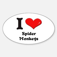 I love spider monkeys Oval Decal