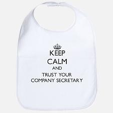 Keep Calm and Trust Your Company Secretary Bib