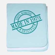 Made in 1973 baby blanket