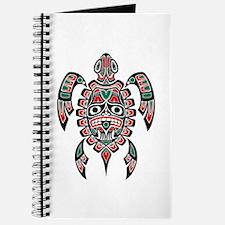 Red Green And Black Haida Sea Turtle Journal