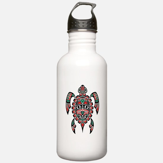 Red Green And Black Water Bottle