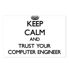 Keep Calm and Trust Your Computer Engineer Postcar