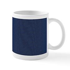 Dark Blue Thin Lines Mugs