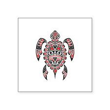 Red and Black Haida Sea Turtle Sticker