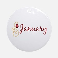 January Ornament (Round)