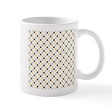 Cute Black, Gray, and Yellow Polka Dots Mugs