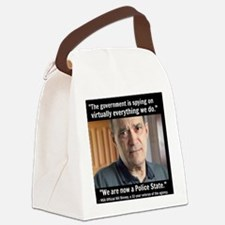 NSA Police State Canvas Lunch Bag