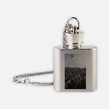 mount wellington peak Flask Necklace
