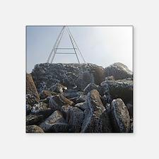 "mount wellington peak Square Sticker 3"" x 3"""