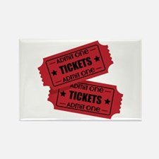 Admit One Tickets Magnets
