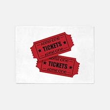 Admit One Tickets 5'x7'Area Rug