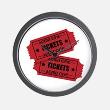Admit One Tickets Wall Clock