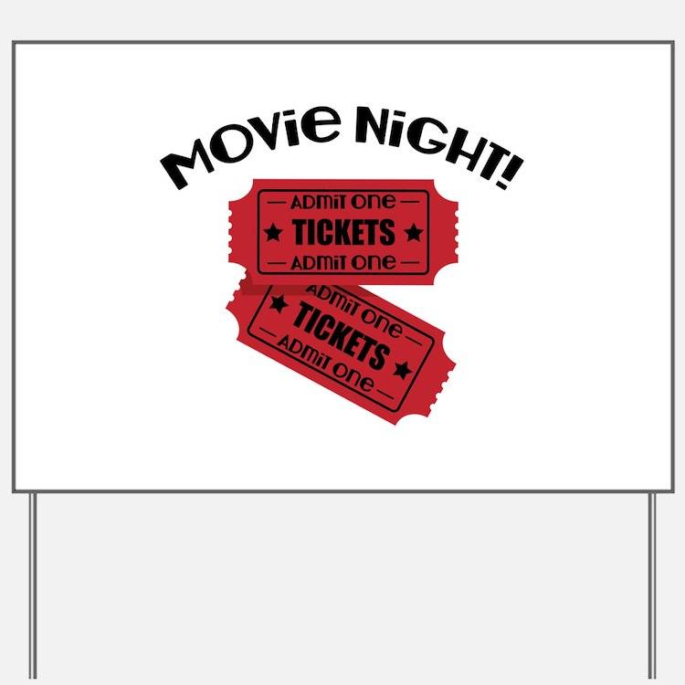 Movie Night! Yard Sign