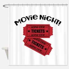 Movie Night! Shower Curtain