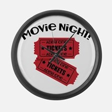 Movie Night! Large Wall Clock