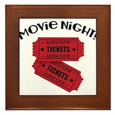 Movie Night! Framed Tile