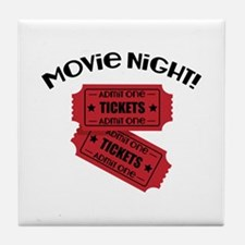 Movie Night! Tile Coaster