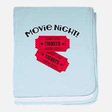 Movie Night! baby blanket