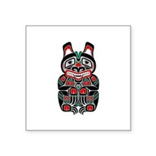 Red and Black Haida Spirit Bear Sticker