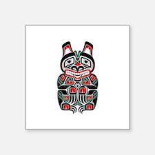 Red and Black Haida Spirit Bear Sticker