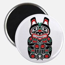 Red and Black Haida Spirit Bear Magnets