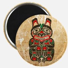 Scratched Haida Spirit Bear Magnets
