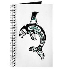 Teal Blue And Black Haida Spirit Killer Journal
