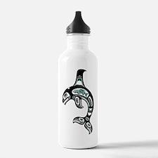 Teal Blue and Black Haida Spirit Killer Whale Wate