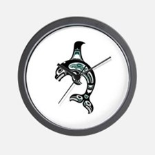 Teal Blue and Black Haida Spirit Killer Whale Wall