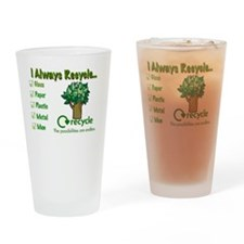 Recycle Funny Drinking Glass
