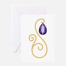 Amethyst February Month Text Greeting Cards