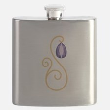 Amethyst February Month Text Flask