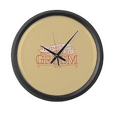 Groom 2014 December Large Wall Clock