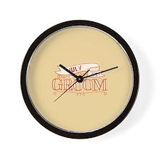 Groom 2014 July Wall Clock