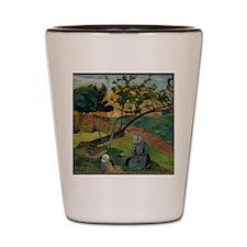 Gauguin - Two Breton Women Shot Glass