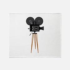 Film Reels Camera Movie Throw Blanket