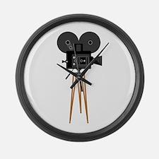 Film Reels Camera Movie Large Wall Clock