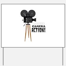 Lights Camera Action! Yard Sign
