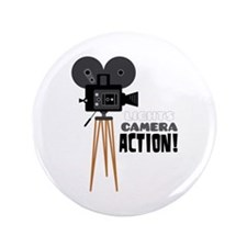 "Lights Camera Action! 3.5"" Button (100 pack)"