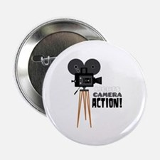 """Lights Camera Action! 2.25"""" Button (100 pack)"""