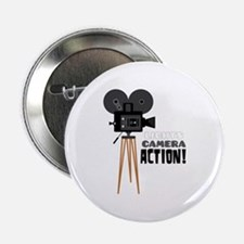 "Lights Camera Action! 2.25"" Button"