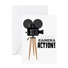 Lights Camera Action! Greeting Cards
