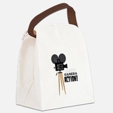 Lights Camera Action! Canvas Lunch Bag